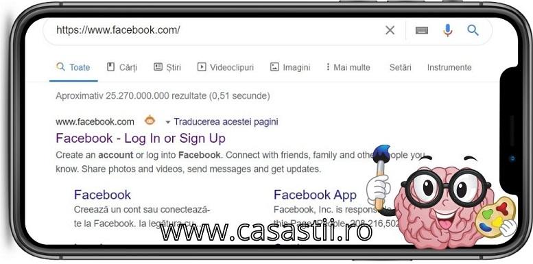 Logare pe Facebook in google pentru a descarca video de pe facebook