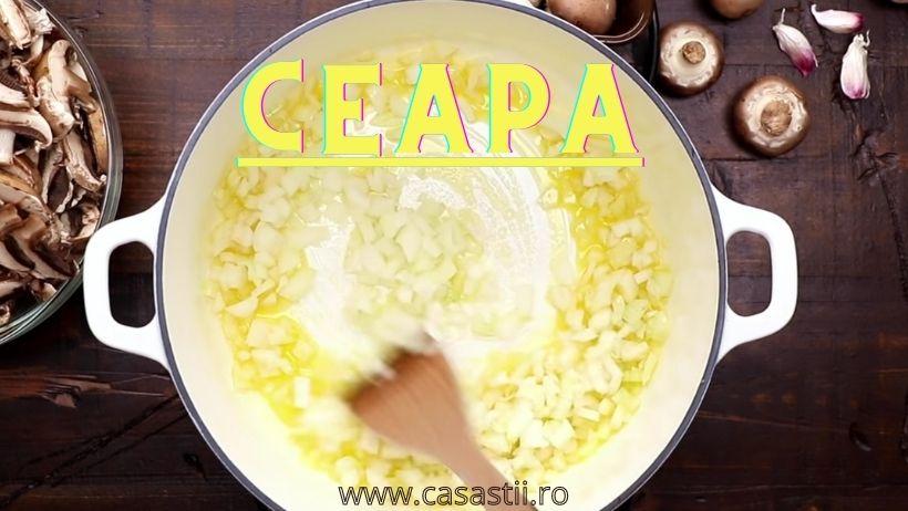 Ceapa pentru supa crema de ciuperci