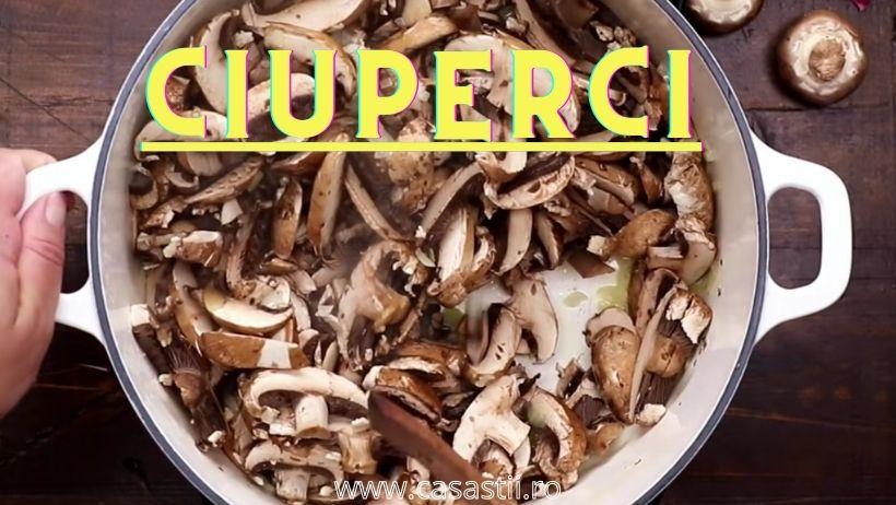 Ciuperci pentru supa crema de ciuperci