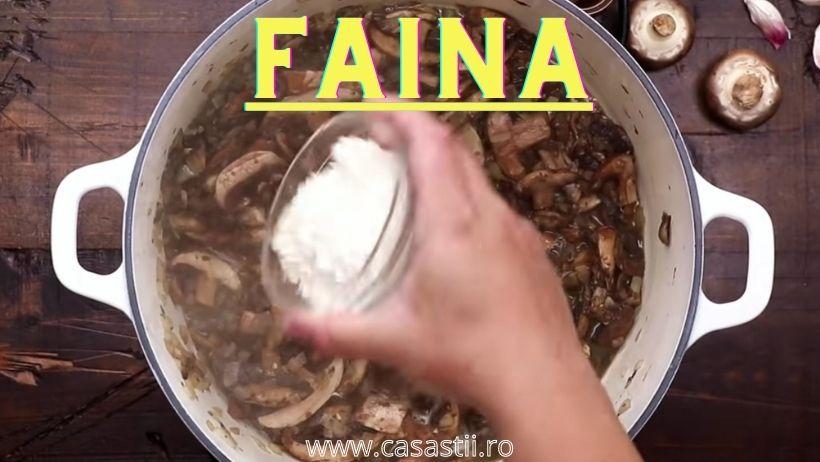 Faina pentru supa crema de ciuperci