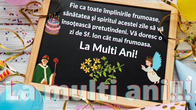 La Multi Ani, Sf Ion!