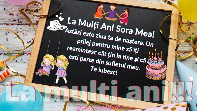 La Multi Ani, sora mea draga!